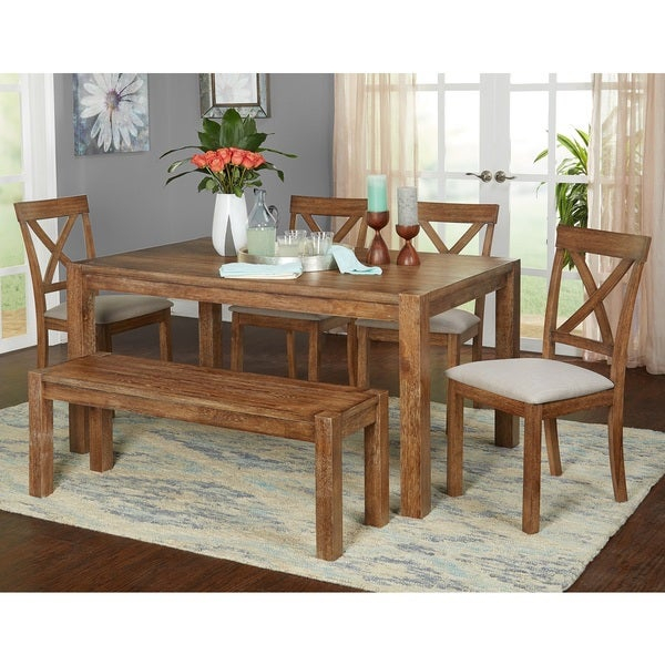 Buy 6 Piece Sets Kitchen & Dining Room Sets Online At For Osterman 6 Piece Extendable Dining Sets (Set Of 6) (View 12 of 25)