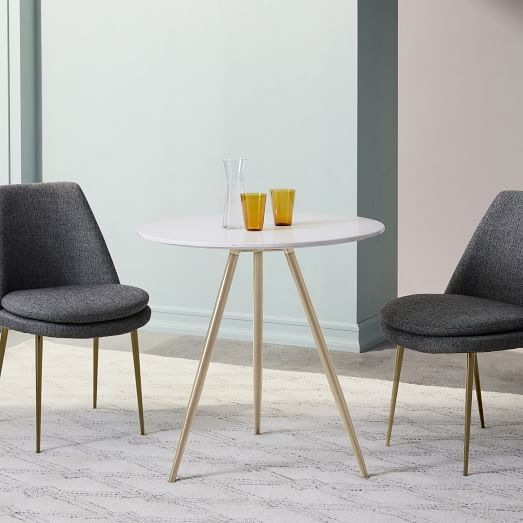 Finley Low Back Dining Chair, Astor Velvet, Steel Blue Regarding Gebbert 3 Piece Extendable Solid Wood Dining Sets (View 17 of 25)
