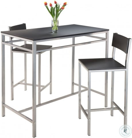 Hanley 3 Piece Counter Height Dining Set Throughout Winsome 3 Piece Counter Height Dining Sets (View 18 of 25)