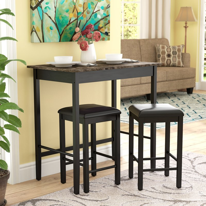 Home Design Ideas (@thehomedesign) | Twitter pertaining to Crownover 3 Piece Bar Table Sets