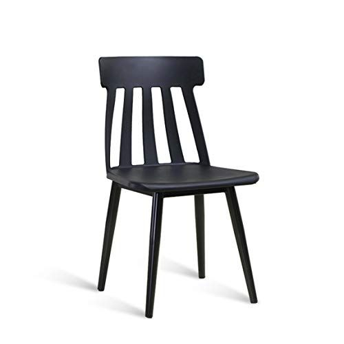 Lrw Simple Fashion Restaurant Bar Chair Plastic Backrest Regarding Miskell 3 Piece Dining Sets (View 17 of 25)