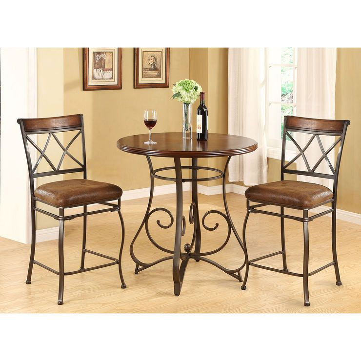 Madrid 3 Piece Dining Set | 3 Piece Dining Set, Dining Room With Miskell 3 Piece Dining Sets (View 10 of 25)
