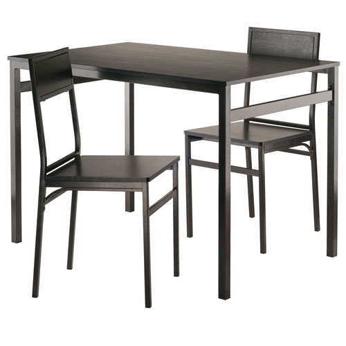 Milton 3 Piece Set Dining Table With Chairs Intended For Winsome 3 Piece Counter Height Dining Sets (View 22 of 25)