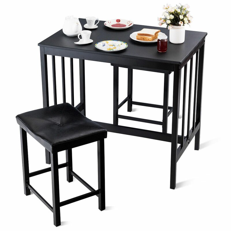 Miskell 3 Piece Dining Set Pertaining To Miskell 3 Piece Dining Sets (View 9 of 25)