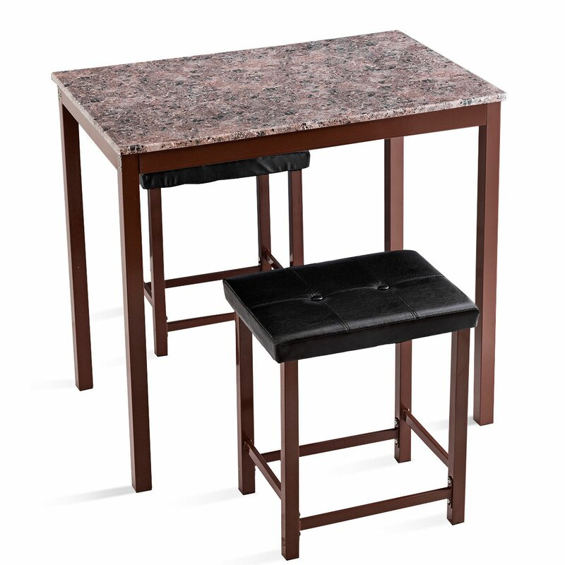 Miskell 3 Piece Dining Set pertaining to Miskell 3 Piece Dining Sets