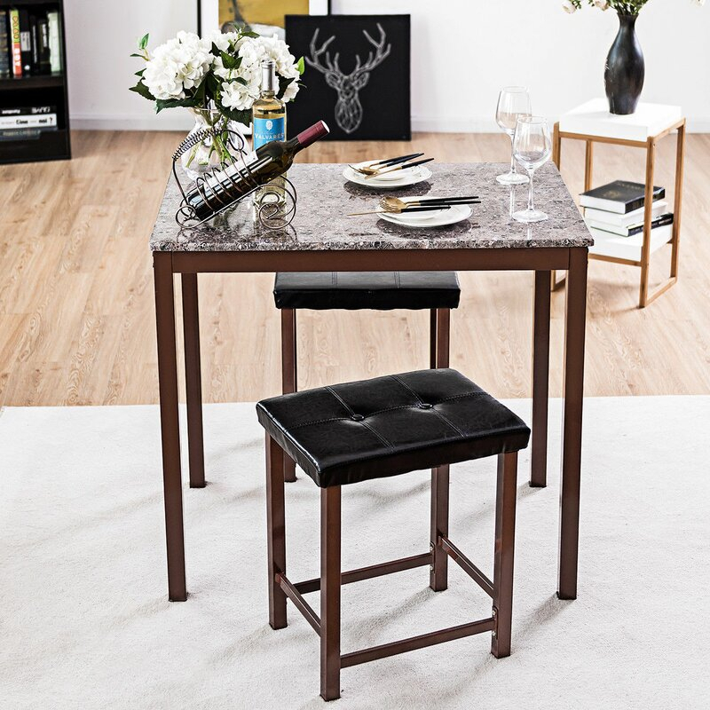 Miskell 3 Piece Dining Set Regarding Miskell 3 Piece Dining Sets (View 5 of 25)