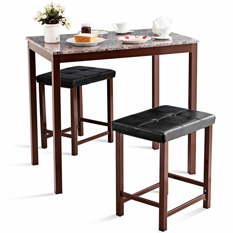Miskell 3 Piece Dining Set With Regard To Miskell 3 Piece Dining Sets (View 6 of 25)