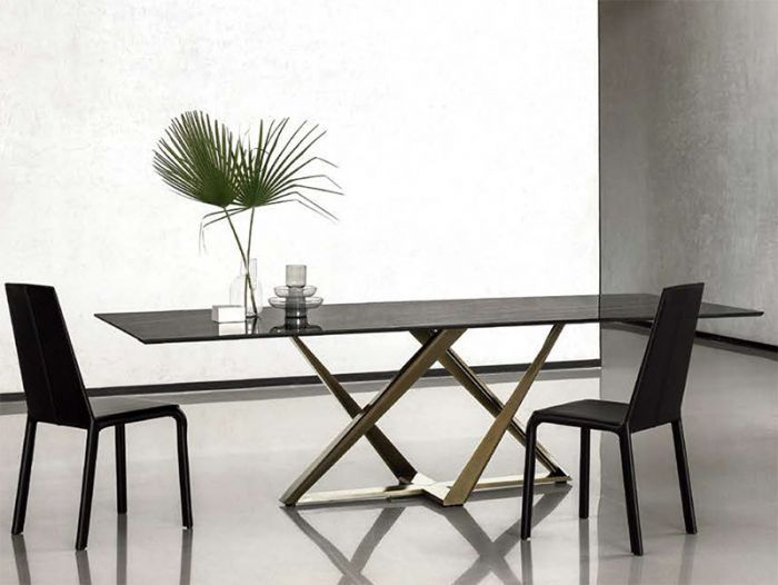 Modern Bontempi Millennium Marble Dining Table | Dining Regarding Osterman 6 Piece Extendable Dining Sets (Set Of 6) (View 15 of 25)