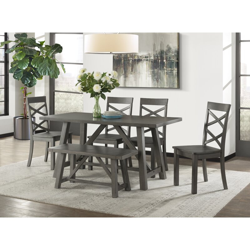 Osterman 6 Piece Extendable Dining Set intended for Osterman 6 Piece Extendable Dining Sets (Set Of 6)