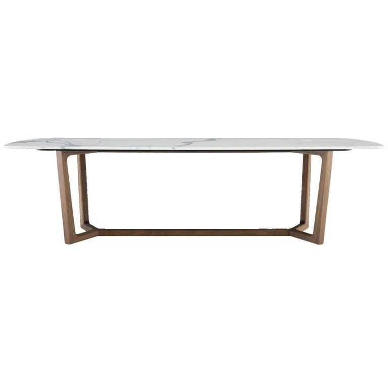 Poliform Concorde Dining Table, Four Wood Bases And Six intended for Osterman 6 Piece Extendable Dining Sets (Set of 6)
