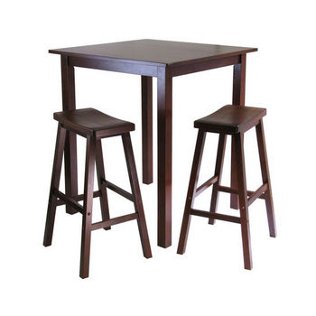 Pub Sets - Antique Walnut Parkland Pub Table Setwinsome within Winsome 3 Piece Counter Height Dining Sets