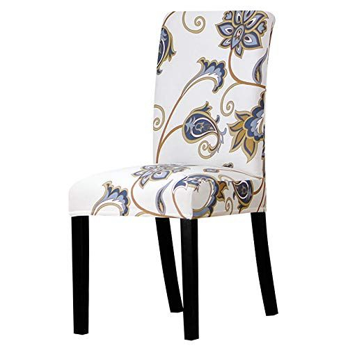 Shanyt Chair Cover Universal Printed Floral Format Chair In Miskell 3 Piece Dining Sets (View 22 of 25)