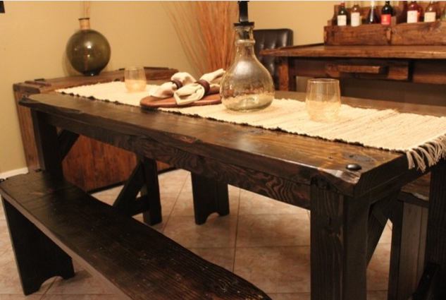 Table From Website Houzz – Example Of The Primitive, Large In Gebbert 3 Piece Extendable Solid Wood Dining Sets (View 8 of 25)