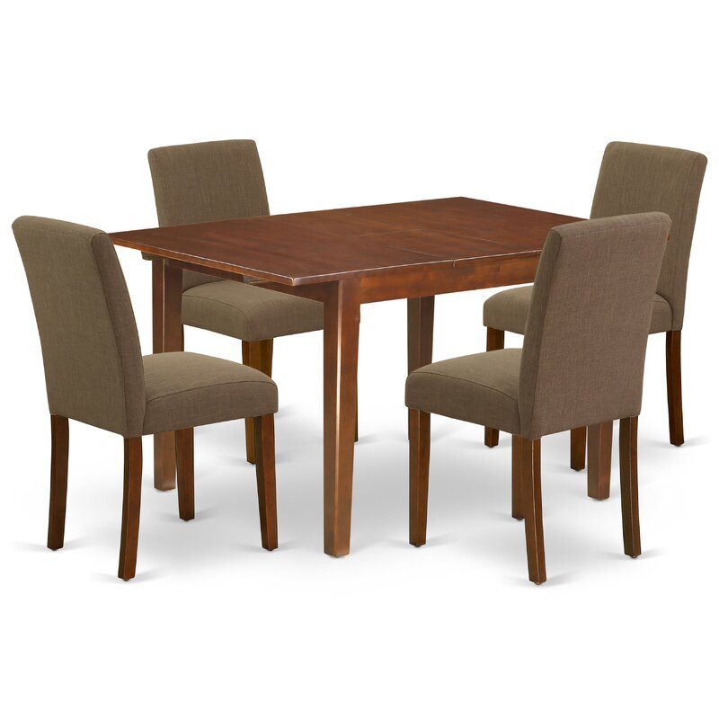 Tuoi 5 Piece Extendable Solid Wood Dining Set With Gebbert 3 Piece Extendable Solid Wood Dining Sets (View 6 of 25)