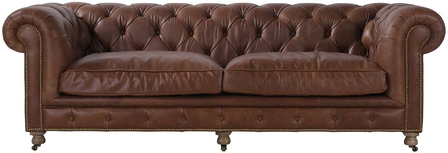 Winchester Sofa Cocoa | Brown Leather Sofa, Leather Sofa, Sofa With Regard To Gebbert 3 Piece Extendable Solid Wood Dining Sets (View 12 of 25)