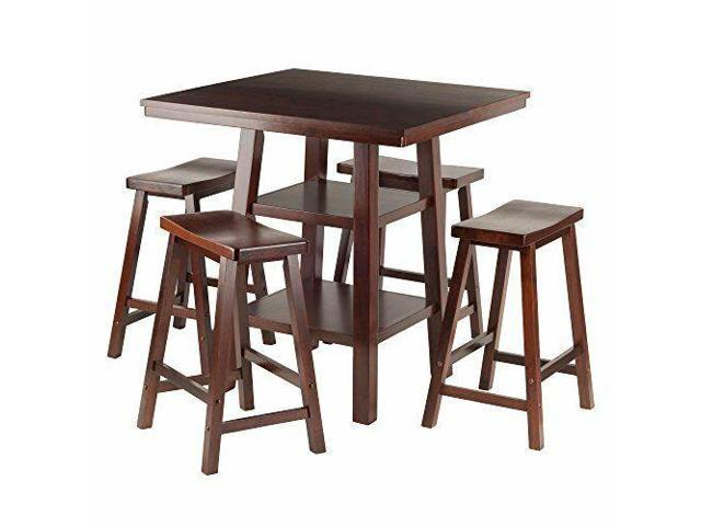 Winsome Orlando 5 Piece Counter Height Dining Table Set With Backless Stools Pertaining To Winsome 3 Piece Counter Height Dining Sets (View 20 of 25)