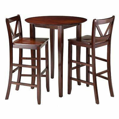 Winsome Trading Fiona 3 Piece Counter Height Round Dining Table Set, Brown, 1 21713943859 | Ebay In Winsome 3 Piece Counter Height Dining Sets (View 2 of 25)