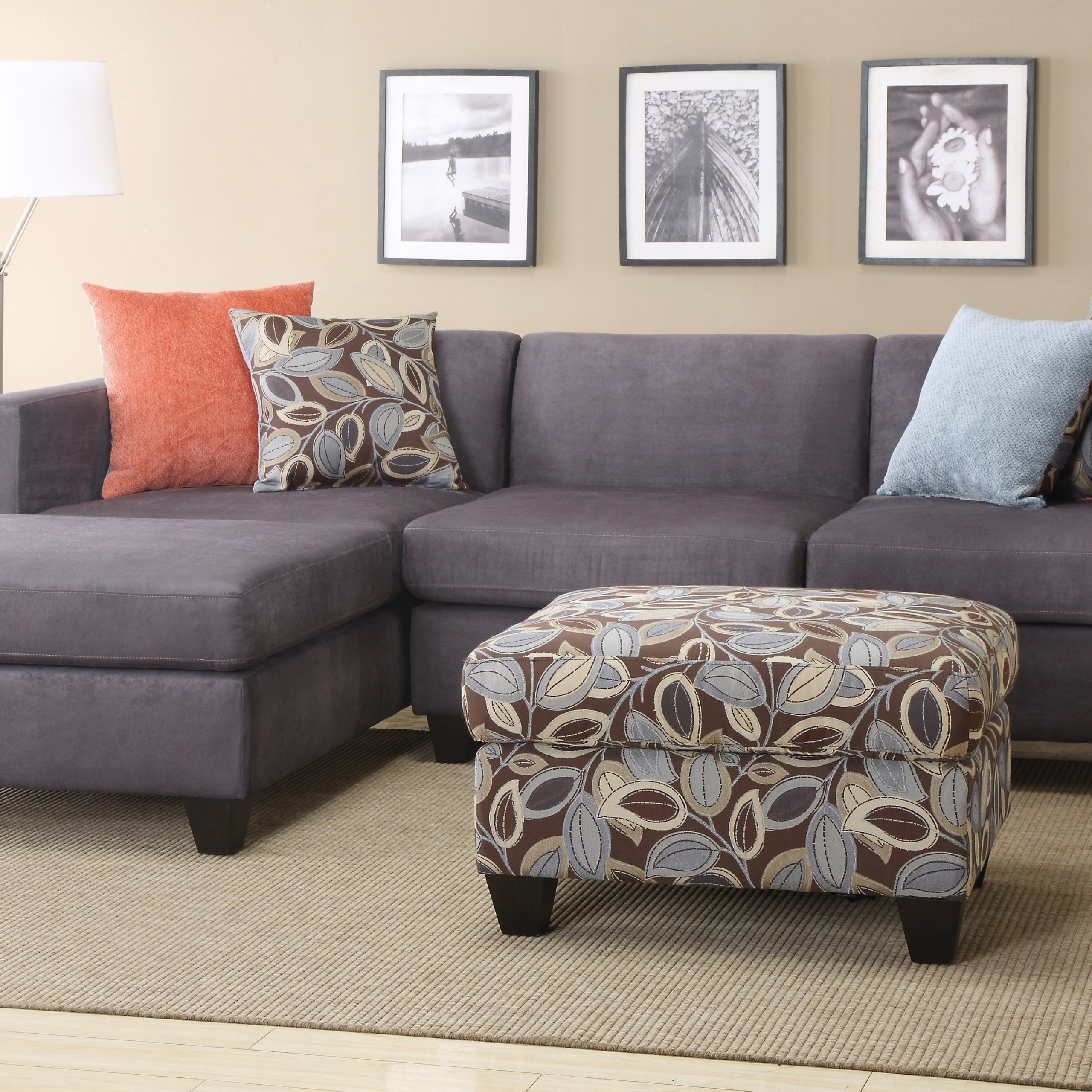 2 Piece Sectional Sofa With Chaise Design – Homesfeed Throughout 4Pc Crowningshield Contemporary Chaise Sectional Sofas (View 15 of 15)