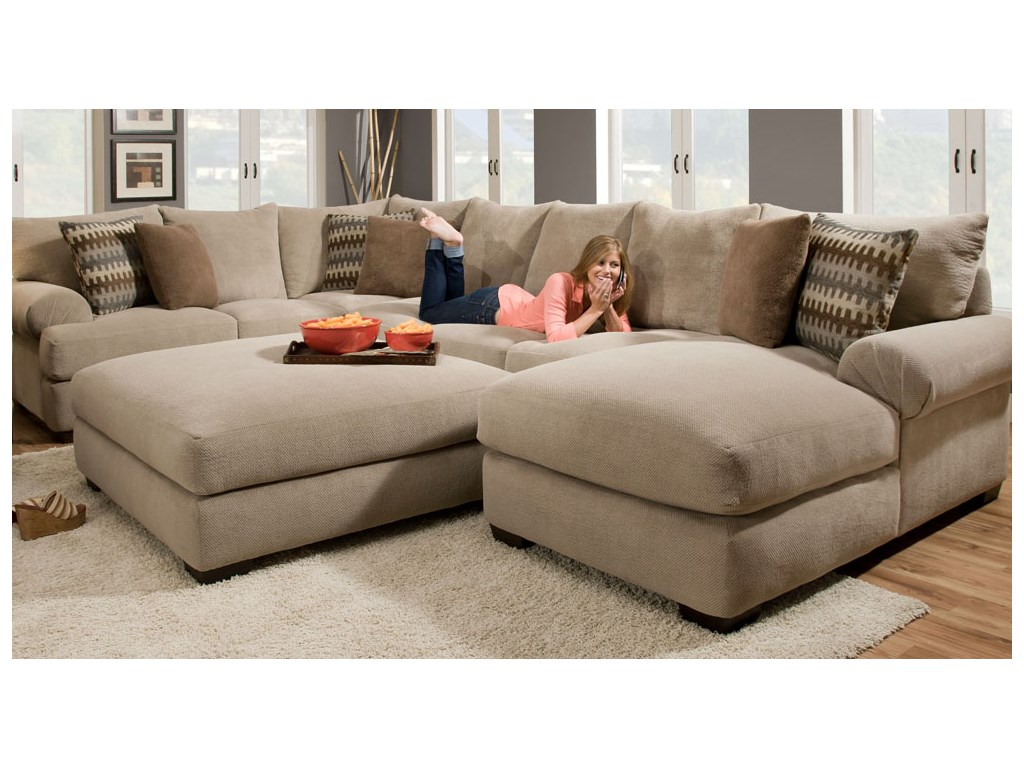2 Piece Sectional Sofa With Chaise Design – Homesfeed With Oversized Sectional Sofas (View 7 of 15)