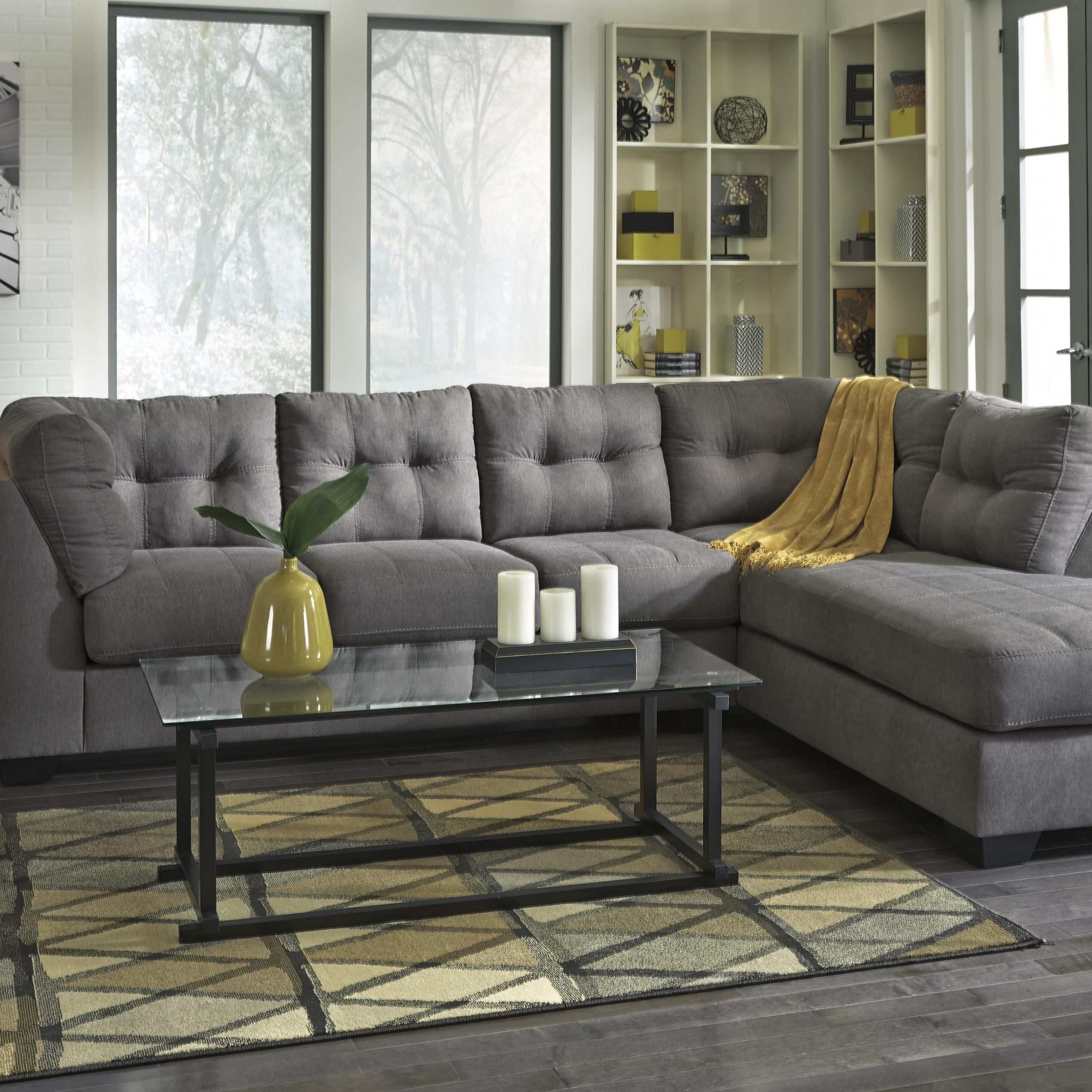 2 Piece Sectional W/ Sleeper Sofa & Right Chaise With Regard To Aspen 2 Piece Sleeper Sectionals With Laf Chaise (View 2 of 15)