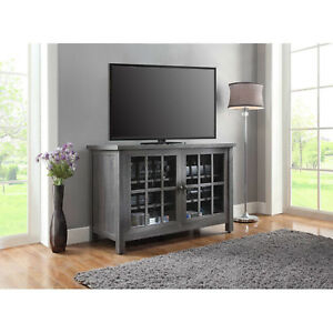 2017 57'' Tv Stands With Led Lights Modern Entertainment Center Pertaining To Tall Tv Stand Farmhouse Rustic Entertainment Center (View 2 of 15)