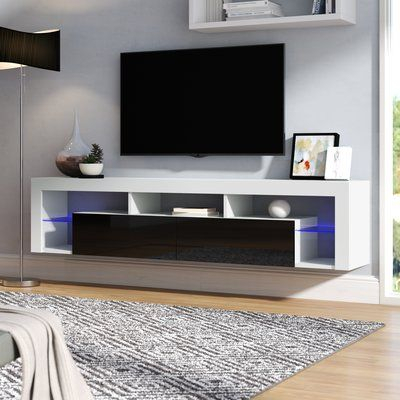 """2017 Ahana Tv Stands For Tvs Up To 60"""" Inside Orren Ellis Floating Milano Böttcher Wall Mounted Floating (View 9 of 15)"""