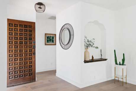 2017 Farmhouse Woven Paths Glass Door Tv Stands Throughout Perfect Modern Spanish Miniminalism In Leimert Park (View 1 of 15)