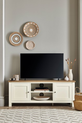2017 Fulton Oak Effect Corner Tv Stands With Regard To Buy Malvern Wide Tv Stand From The Next Uk Online Shop (View 8 of 12)