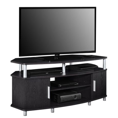 """2017 Hex Corner Tv Stands Pertaining To Carson Corner Tv Stand For Tvs Up To 50"""", Black/Cherry (View 2 of 15)"""