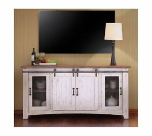 """2017 Jaxpety 58"""" Farmhouse Sliding Barn Door Tv Stands In Rustic Gray In White Wash Barn Door Tv Stand 70"""" (View 1 of 15)"""