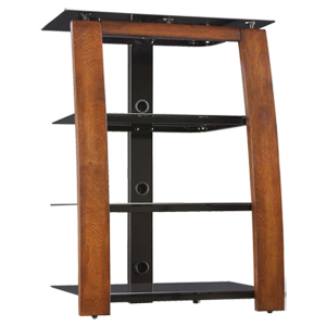"""2017 Whalen Furniture Black Tv Stands For 65"""" Flat Panel Tvs With Tempered Glass Shelves With Regard To Whalen 32"""" Component / Tv Stand (Bbcat27Tc) – Best Buy (View 11 of 15)"""