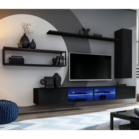 2018 57'' Led Tv Stands Cabinet Inside Bmf Switch Met Iv Wall Unit 300Cm Wide Tv Stands Cabinets (View 8 of 15)