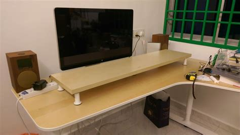 2018 Boahaus Dakota Tv Stands With 7 Open Shelves With Ikea Monitor Stand White – Free Shipping On Everything (View 10 of 15)