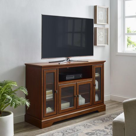 """2018 Entertainment Center Tv Stands Reclaimed Barnwood Throughout We Furniture 52"""" Brown Wood Highboy Tv Stand (View 1 of 15)"""