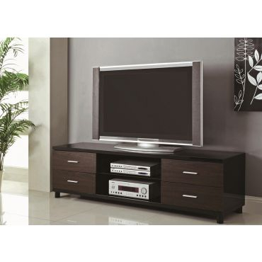 2018 Modern Black Tv Stands On Wheels For Cerro Black Lacquer Finish Tv Stand (View 6 of 15)