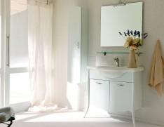 2018 Puro White Tv Stands Regarding Nella Vetrina Legno Clip White Matte Lacquered Bathroom Vanity (View 1 of 15)