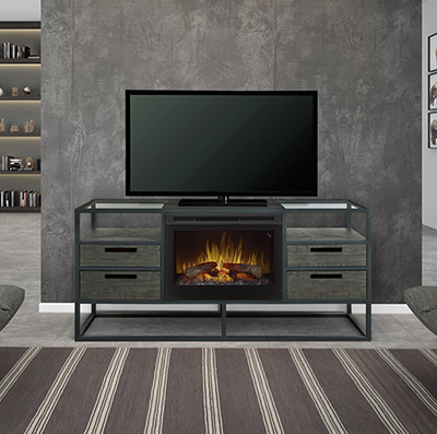 """2018 Rickard Tv Stands For Tvs Up To 65"""" With Fireplace Included Regarding Talon Tv Stand For Tvs Up To 65"""" With Electric Fireplace (View 10 of 15)"""