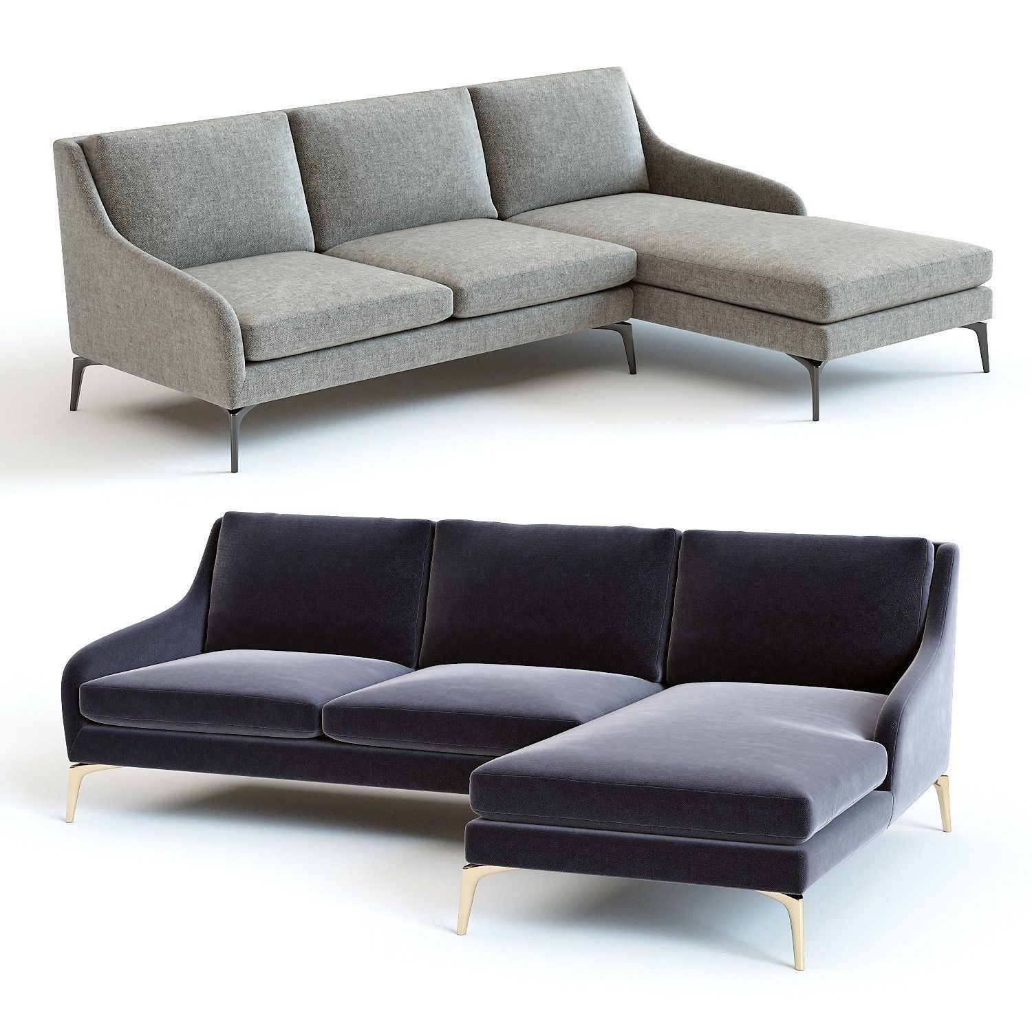 3D Model West Elm – Alto Sectional Sofa | Cgtrader Within West Elm Sectional Sofas (View 2 of 15)