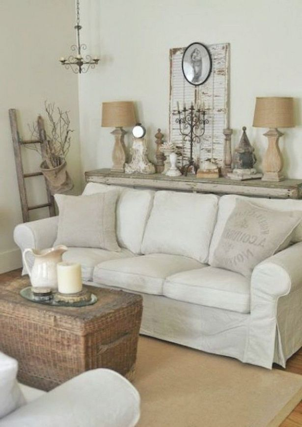 42+ Comfy Farmhouse Shabby Chic Living Room Decor Ideas With Regard To Shabby Chic Sofas (View 10 of 15)