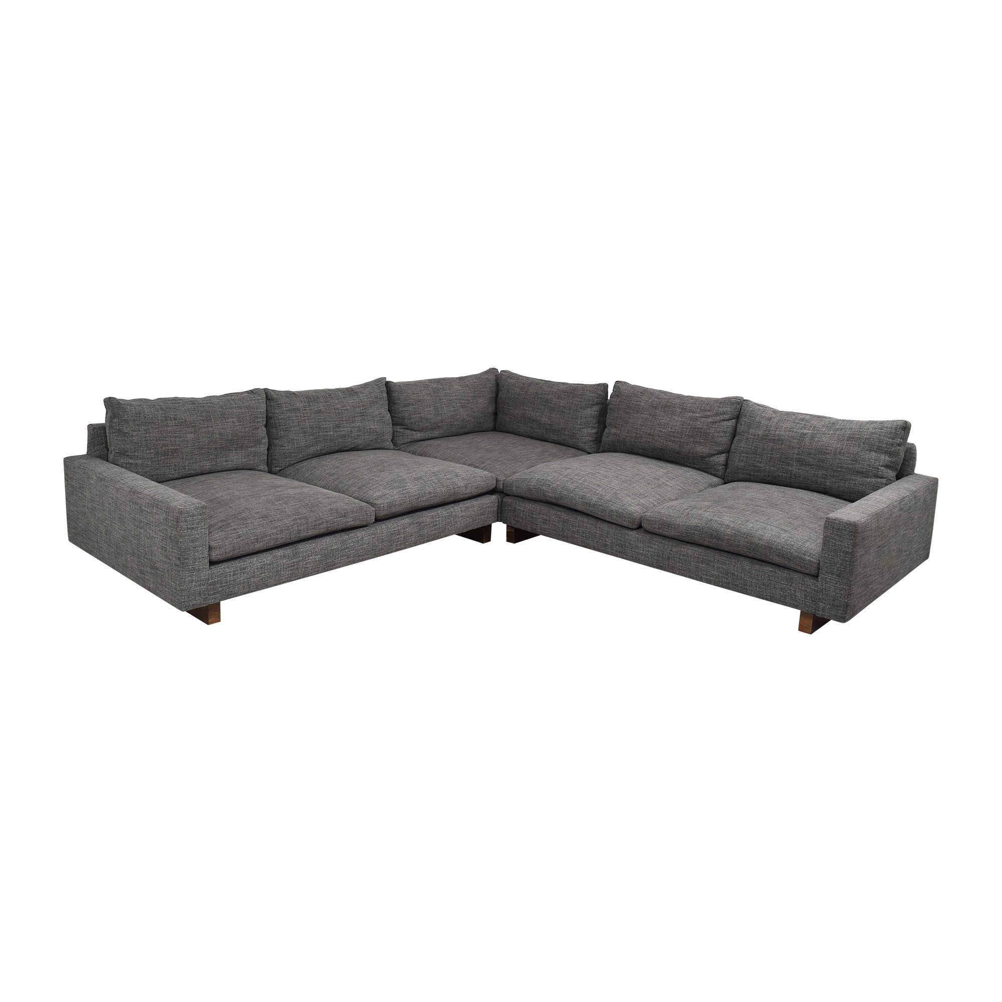 42% Off – West Elm West Elm Harmony 3 Piece L Shaped Pertaining To West Elm Sectional Sofas (View 12 of 15)