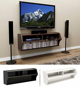 """48"""" Altus Floating Wall Mounted Console Lcd/Led Tv Stand W Pertaining To Well Liked Led Tv Cabinets (View 6 of 15)"""