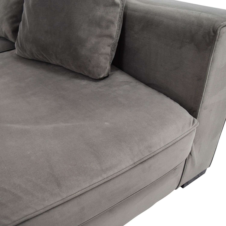 53% Off – West Elm West Elm Modular Gray Sectional / Sofas For West Elm Sectional Sofas (View 11 of 15)