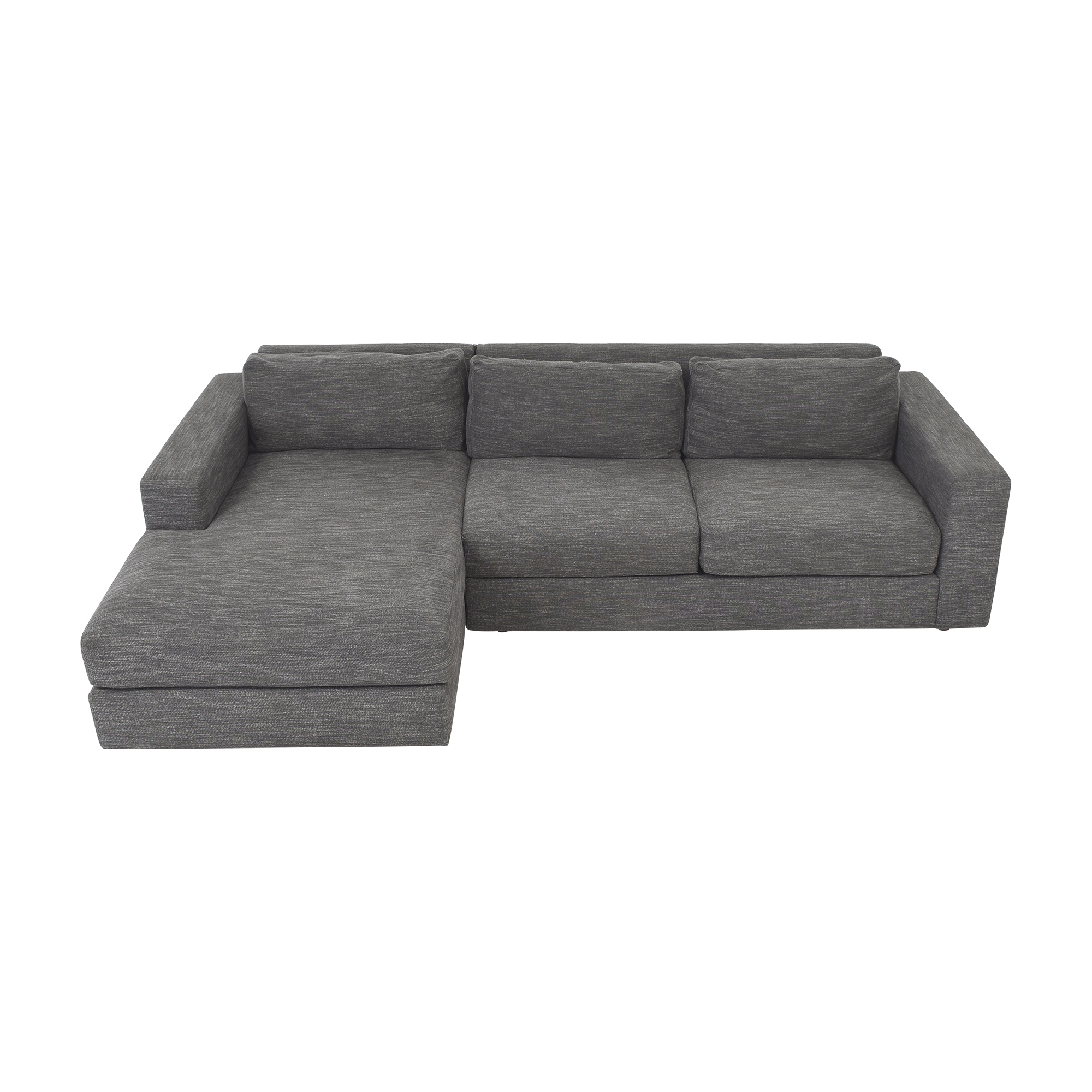 54% Off – West Elm West Elm Urban 2 Piece Chaise Sectional Intended For Elm Grande Ii 2 Piece Sectionals (View 11 of 15)