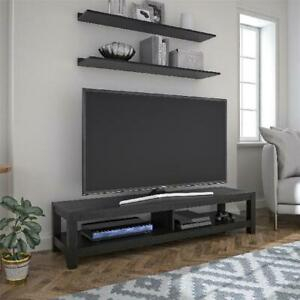 """65 Inch Wood Tv Stand Unit W/ Open Shelf Entertainment In Current Grenier Tv Stands For Tvs Up To 65"""" (View 15 of 15)"""