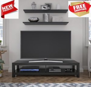 65 Inch Wood Tv Stand Unit W/ Open Shelf Entertainment Pertaining To Most Recent Single Shelf Tv Stands (View 9 of 15)