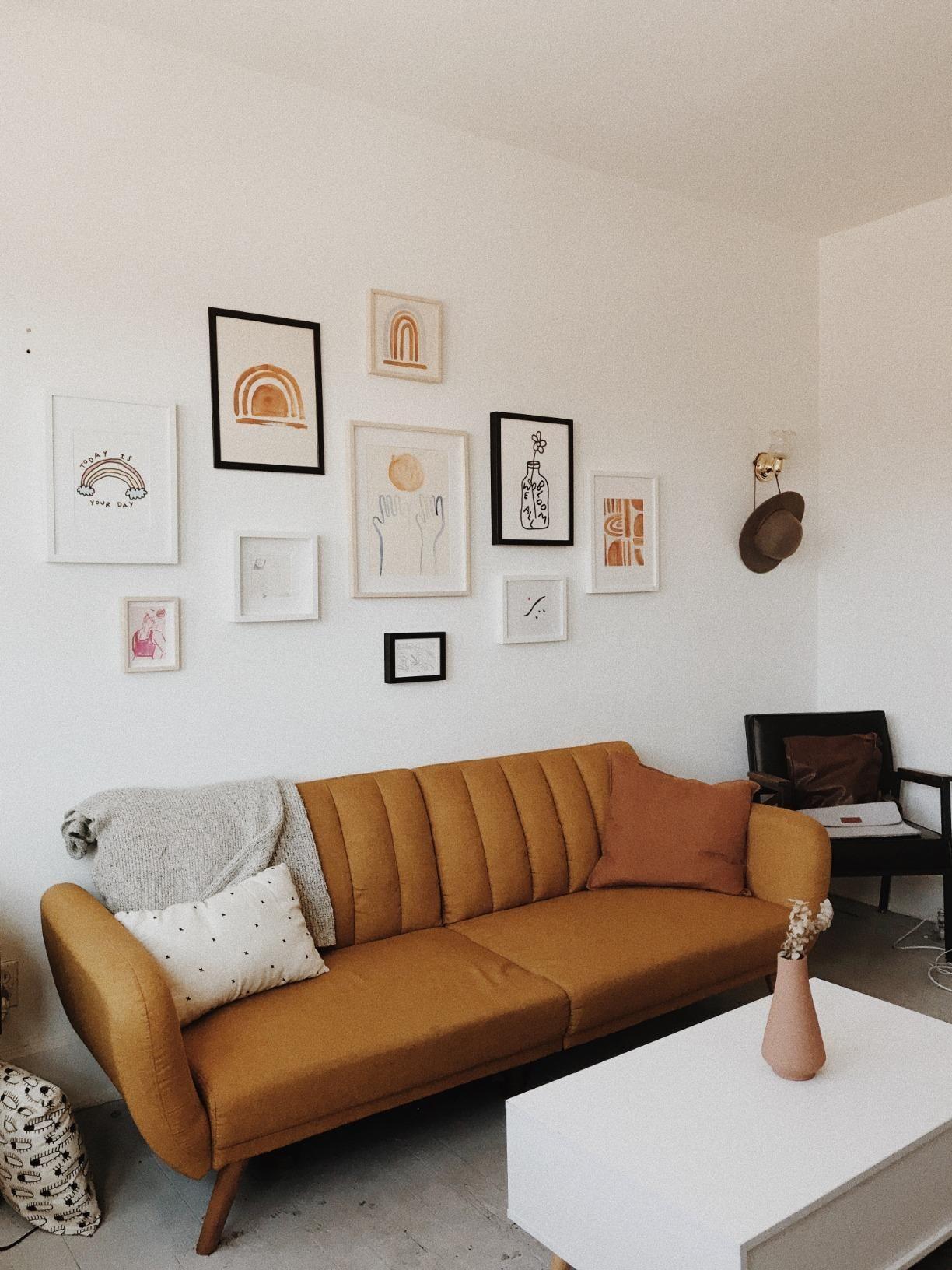 Amazon: Novogratz Brittany Sofa Futon, Premium Linen Regarding Brittany Sectional Futon Sofas (View 12 of 15)