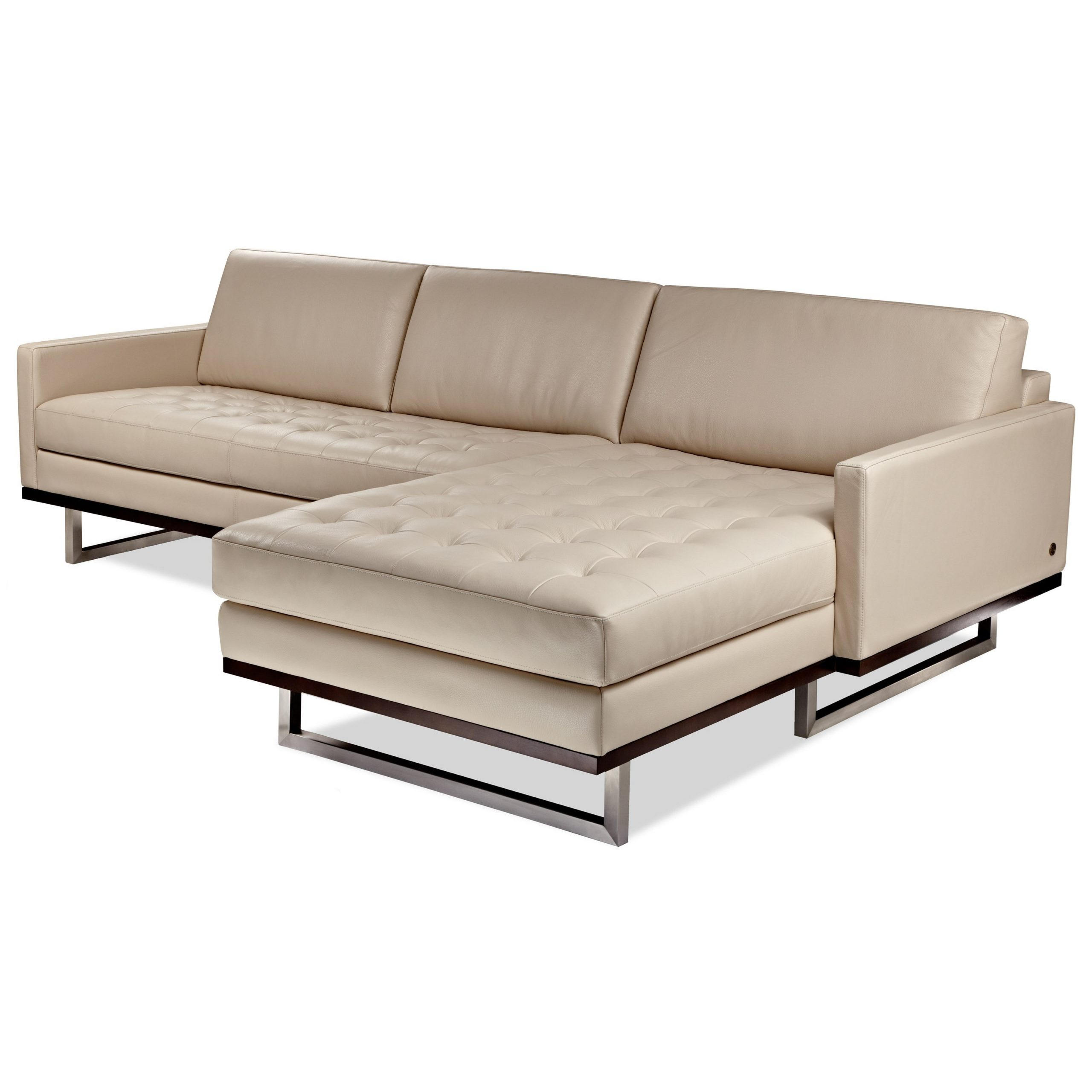 American Leather Tristan Mid Century Modern 2 Piece Within Evan 2 Piece Sectionals With Raf Chaise (View 12 of 15)