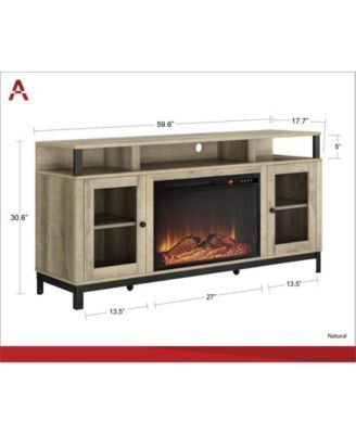 Ameriwood Home Blondie Fireplace Tv Stand For Tvs Up To 65 Intended For Well Known Fireplace Media Console Tv Stands With Weathered Finish (View 11 of 15)