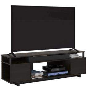 """Ameriwood Home Brookstone Tv Stand Up To 65"""" In Golden Oak Pertaining To Fashionable Leonid Tv Stands For Tvs Up To 50"""" (View 11 of 15)"""