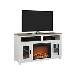 Ameriwood Home Carver Electric Fireplace Tv Stand For Tvs Inside Popular Oliver Wide Tv Stands (View 10 of 15)